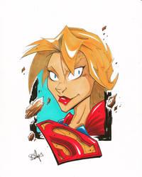 Supergirl headshot by 2hotty7