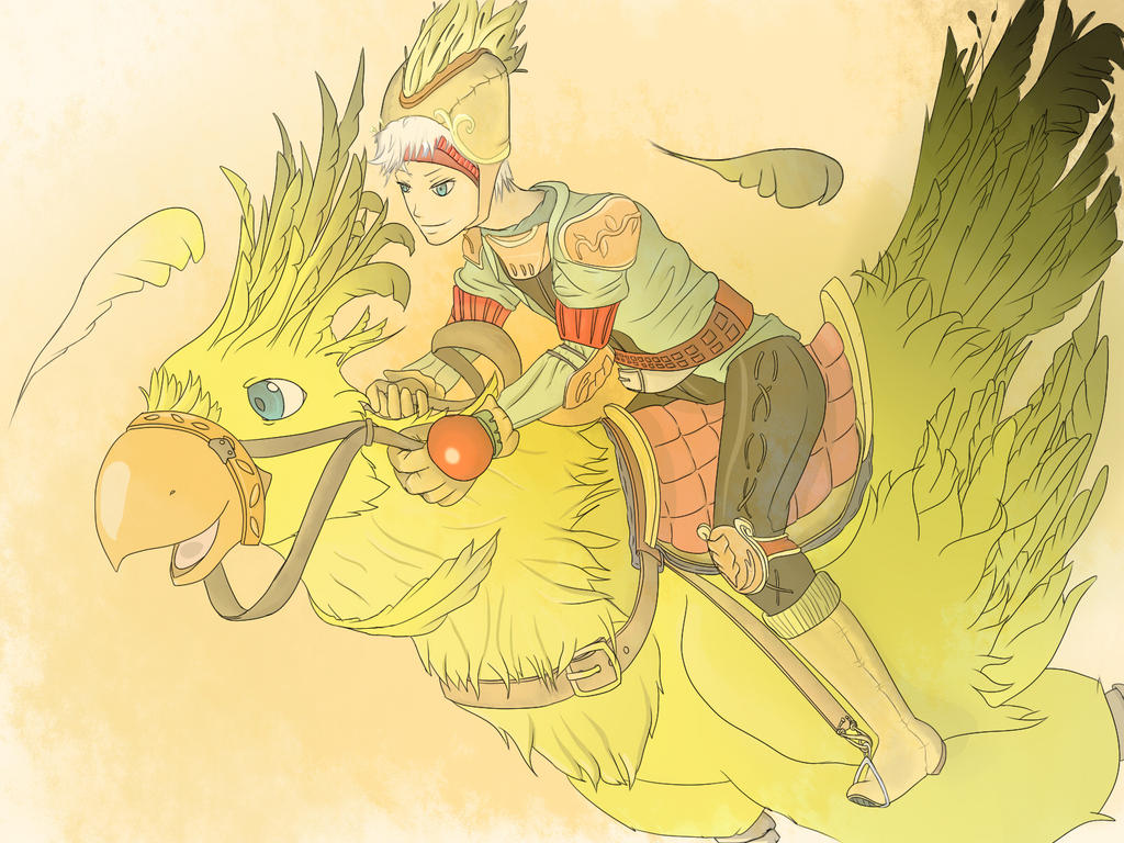 Chocobo Rider by DeckedValley