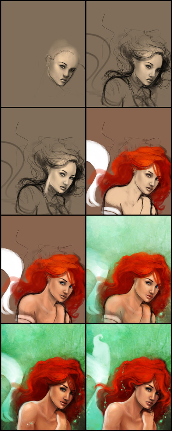 Ariel Progression by jtgraffix