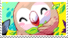 Rowlet stamp by pulsebomb