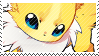 Jolteon stamp by pulsebomb