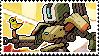 Pixel spray stamp: Bastion