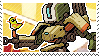 Pixel spray stamp: Bastion by poppliio
