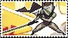 Pixel spray stamp: Genji by pulsebomb