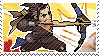 Pixel spray stamp: Hanzo by poppliio
