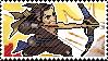 Pixel spray stamp: Hanzo by babykttn
