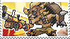 Pixel spray stamp: Junkrat by pulsebomb
