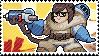 Pixel spray stamp: Mei by pulsebomb