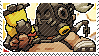 Pixel spray stamp: Roadhog by poppliio