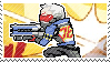 Pixel spray stamp: Soldier:76 by nintendoqs