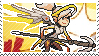 Pixel spray stamp: Mercy by poppliio