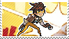 Pixel spray stamp: Tracer by poppliio