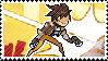 Pixel spray stamp: Tracer by babykttn
