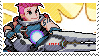 Pixel spray stamp: Zarya by nintendoqs