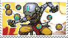 Pixel spray stamp: Zenyatta by poppliio