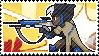 Pixel spray stamp: Ana