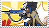 Pixel spray stamp: Ana by pulsebomb