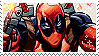 Deadpool stamp by pulsebomb