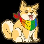 Gay Pride Shiba Inu