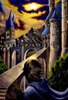 Hogwarts at Sunset by Beeeb