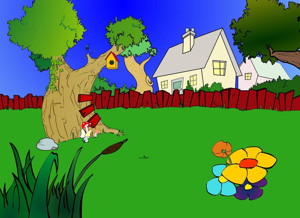 Garden Scene by Animationantics on DeviantArt