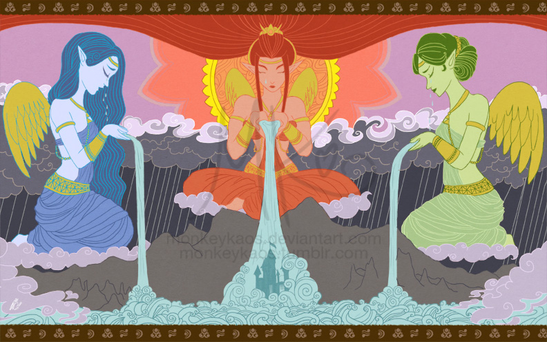 Sorrow of the Goddesses by monkeykaos