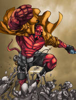 Hellboy the colors by toonfed