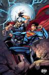Comission Superman vs Thor