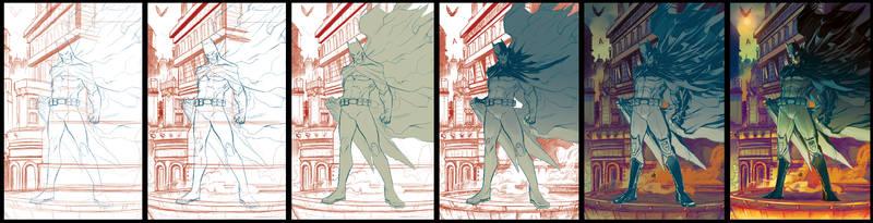Batman 75 step by step by toonfed