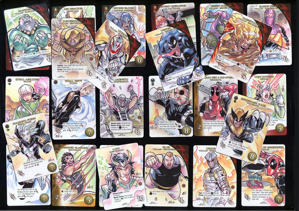 Marvel 3D sketch cards by toonfed