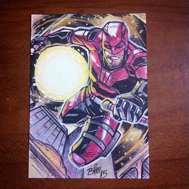 Daredevil Sketch Card by toonfed