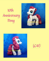 Chibi 10th Anniversary Pony by NorthernElf