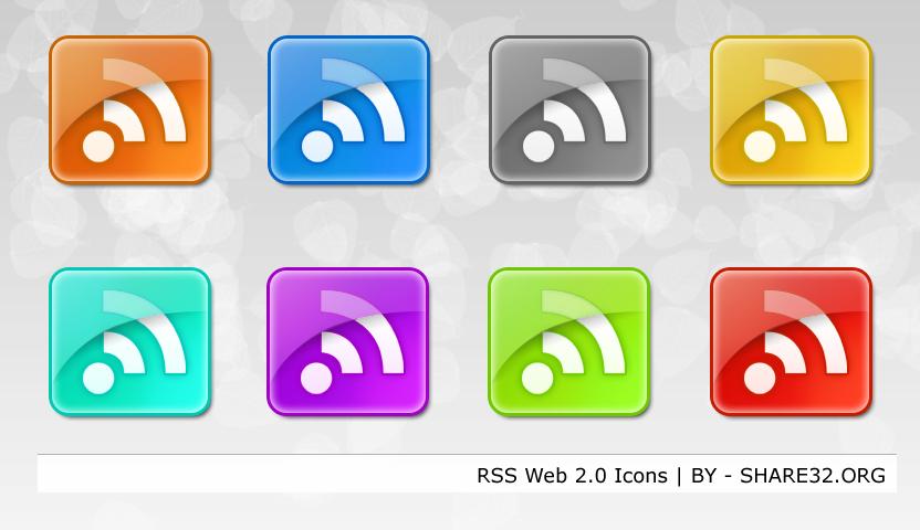 RSS Shiny Icons Web 2.0