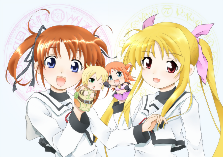 LyricalNanoha Nanoha and Fate by sarro-kamiyubi