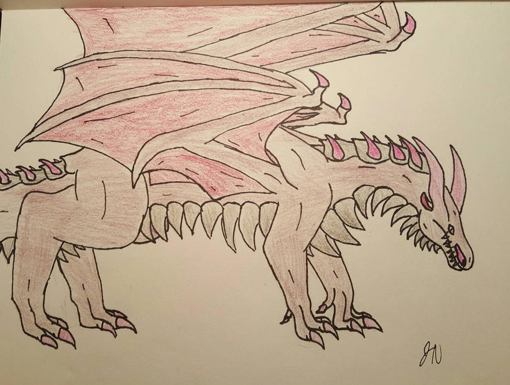Khrodiney, the Quad-wing Dragon  by aerithedrgn