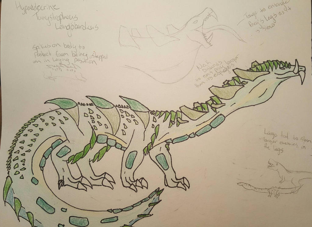 Hypoendocrine Tanystropheus Longobardicus by aerithedrgn