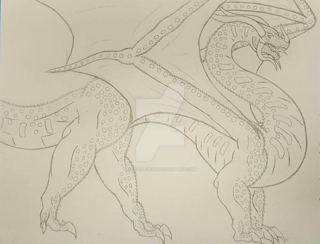 Tundra/Aquatic Dragon  (WIP) by aerithedrgn