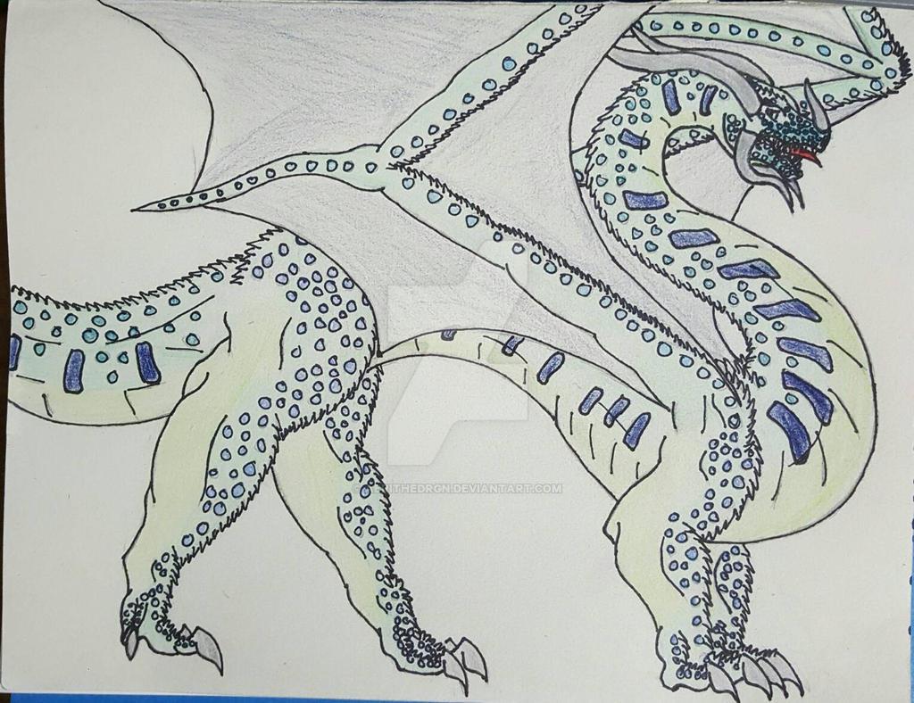 Silver Lichen Dragon  by aerithedrgn