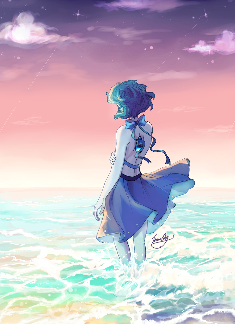 """Maybe I'll find myself smiling on that shore...maybe I'm not alone..."" *clutches heart* LAPIS IS STILL MY FAVORITE CHARACTER AHHHH   THOSE NEW SU EPISODES GOT ME SHOOK THO    &..."