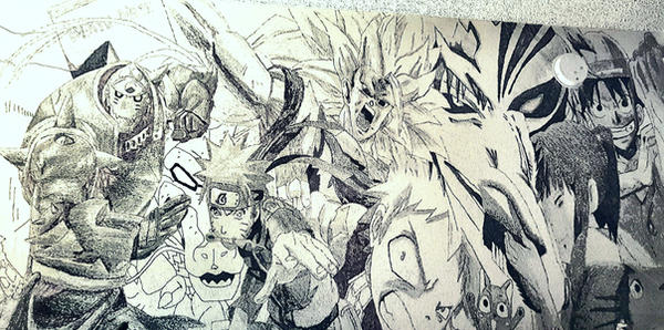 Anime Wall Mural by justinzafaranloo