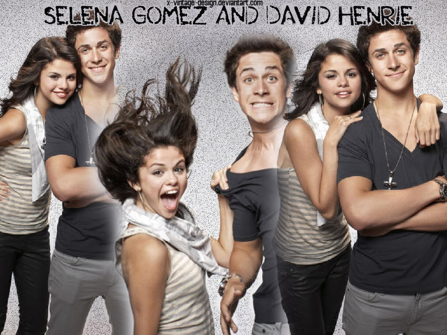 Selena Gomez And David Henrie By X-vintage-design On