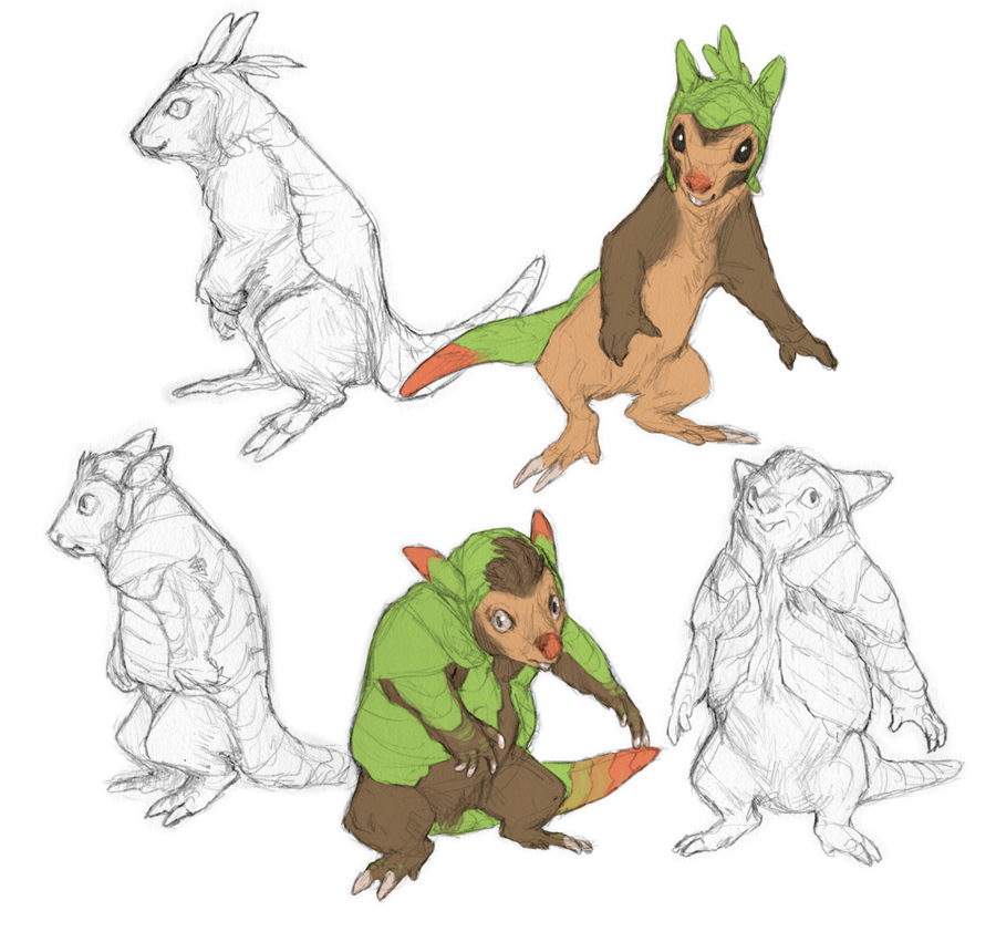 Quilladin Evolution Chespin and quilladin by