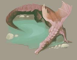 Croco-Dragon by tashcrow