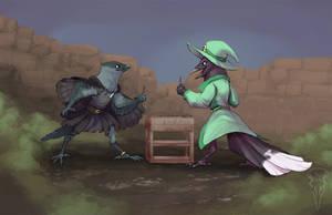 Commission: Bird Nerds by tashcrow