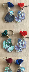 Gallade and Gardevoir Charms by tashcrow