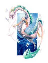Watercolour Haku by tashcrow