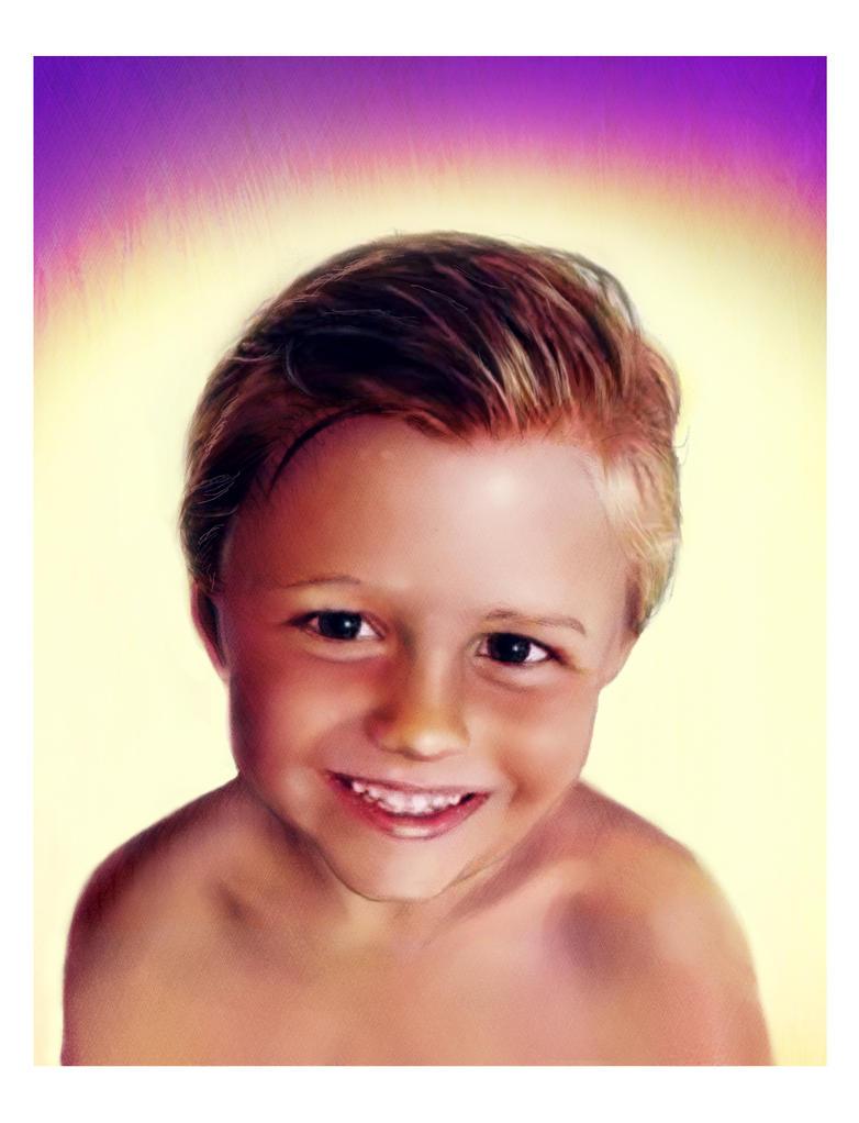 Portrait of little boy by bbqedmarv