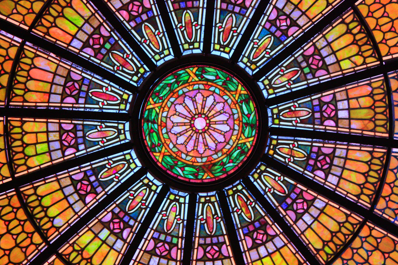 Stowe S Stained Glass Ceiling By Neil Armstrong70 On