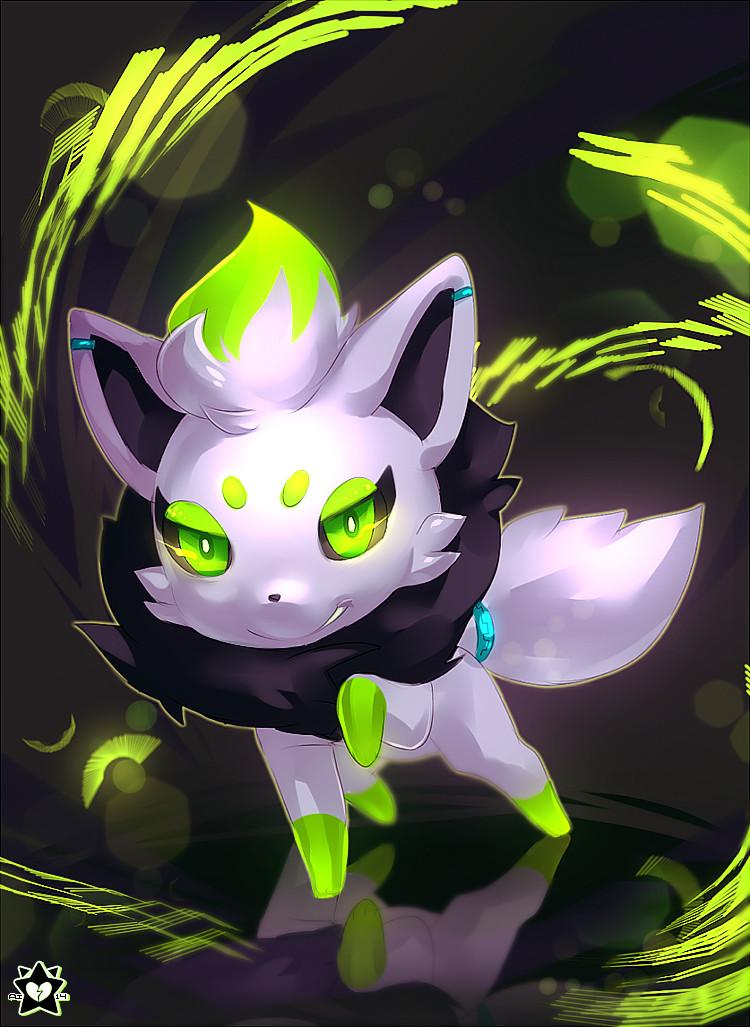 White Zorua by E-X-P-I-E