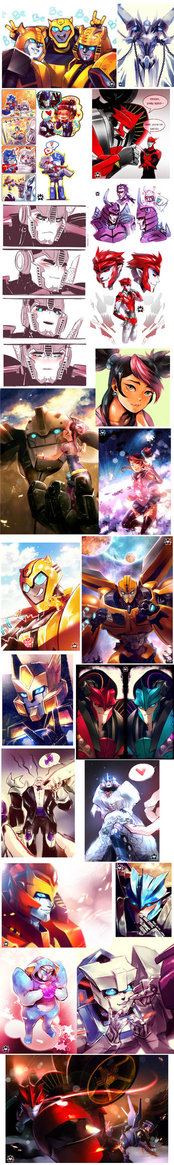 Mega Transformers Artdump